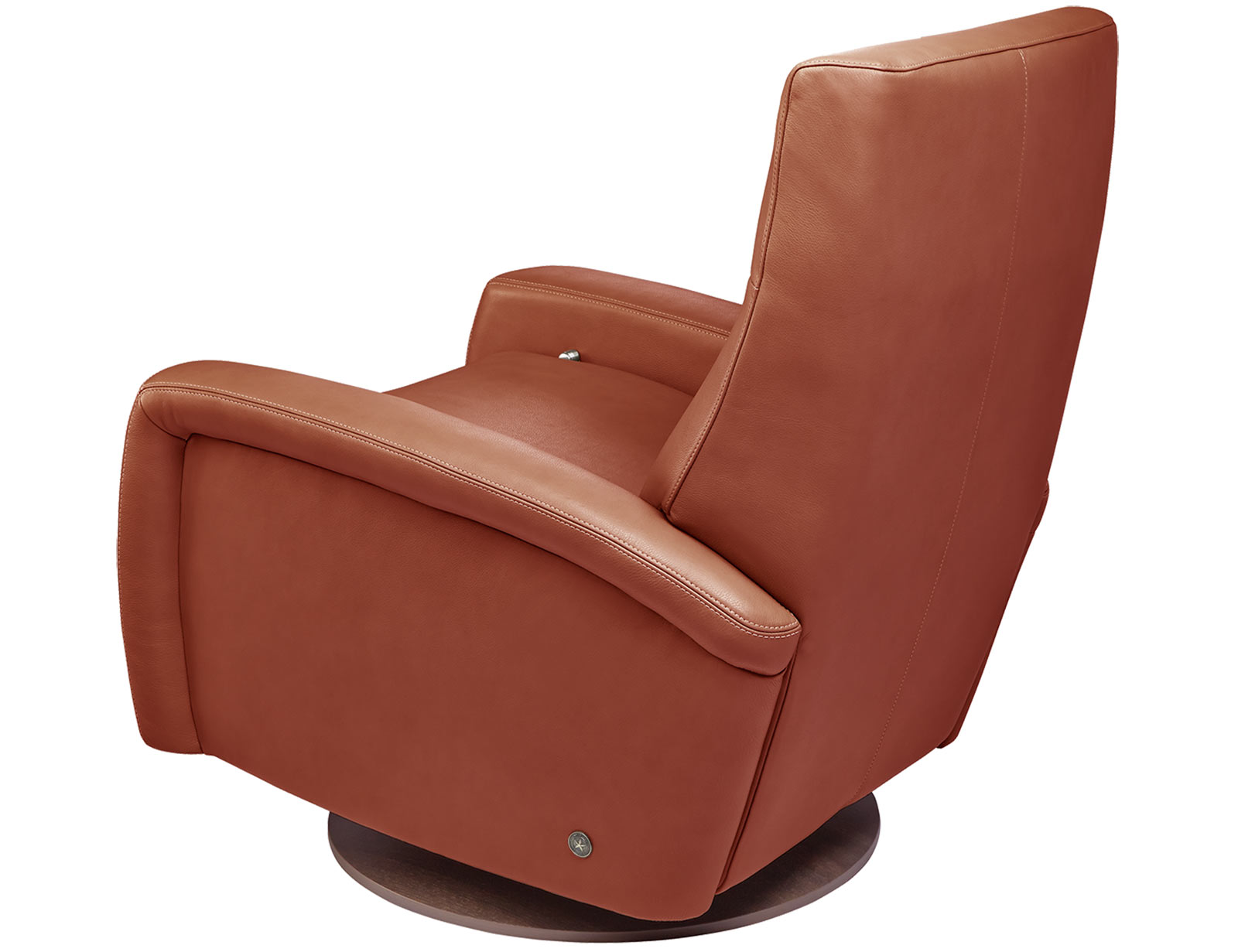 American Leather Demi Comfort Recliner available with swivel base