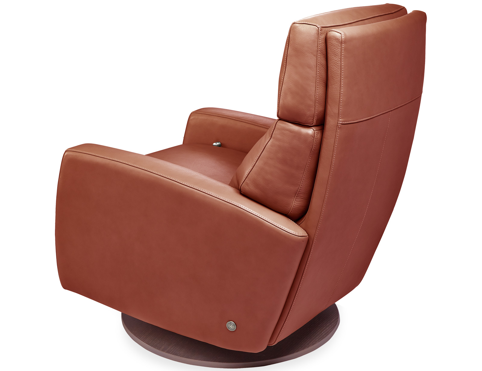 American Leather Elliot Comfort Recliner available with swivel base