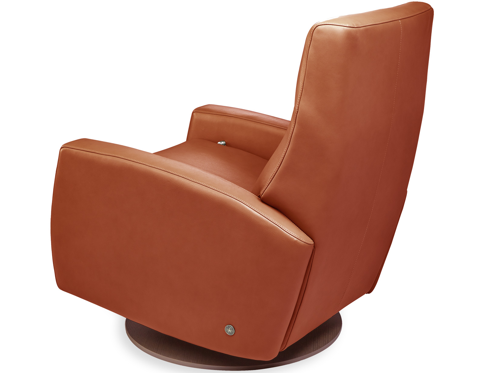 American Leather Eva Comfort Recliner available with swivel base