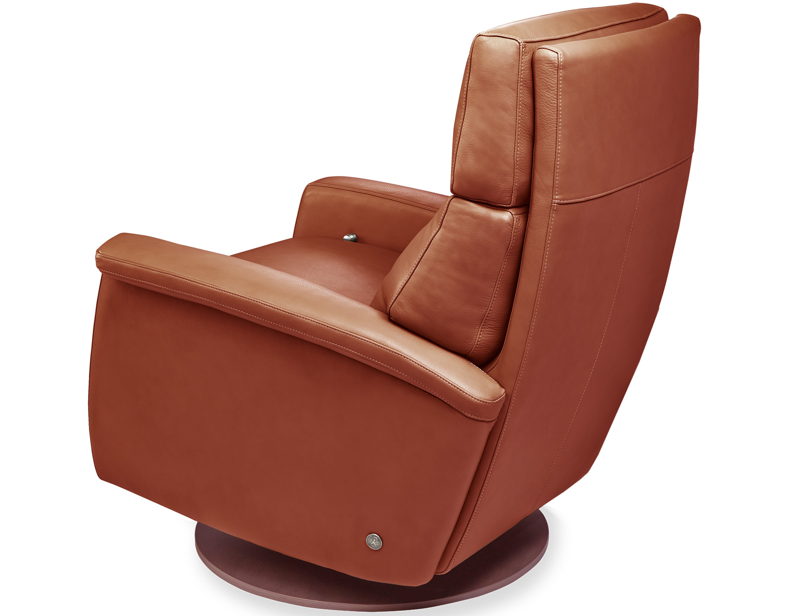American Leather Felix Comfort Recliner available with swivel base