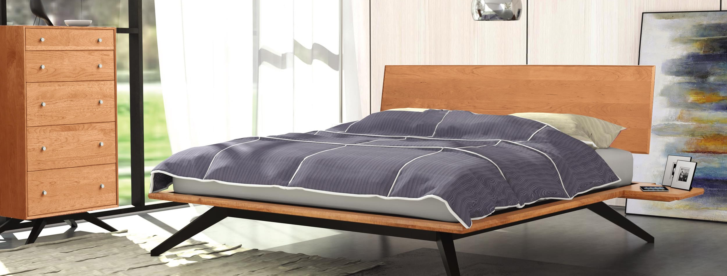 Astrid Modern Platform Bed Room View