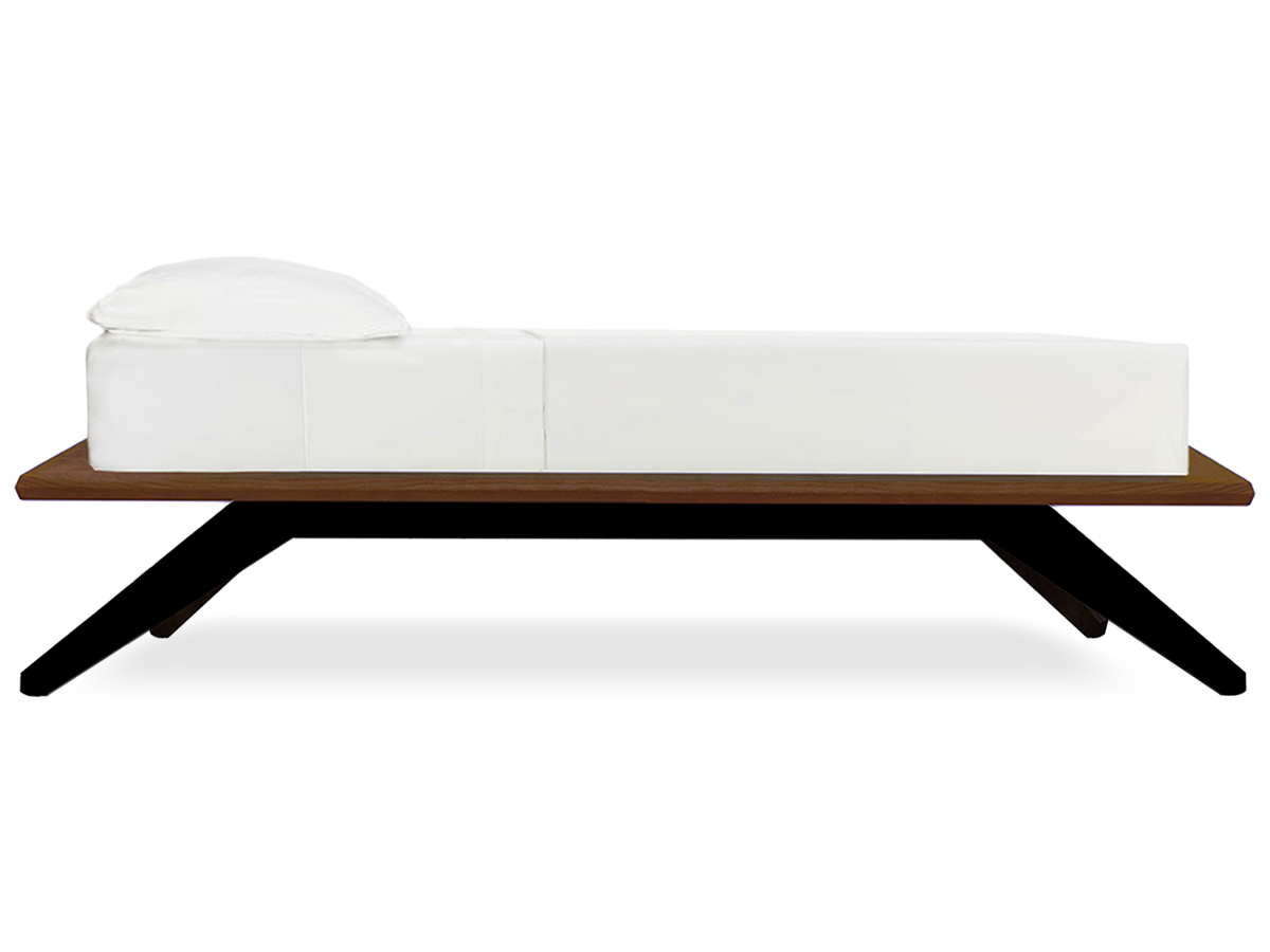 Astrid Modern Platform Bed Side View