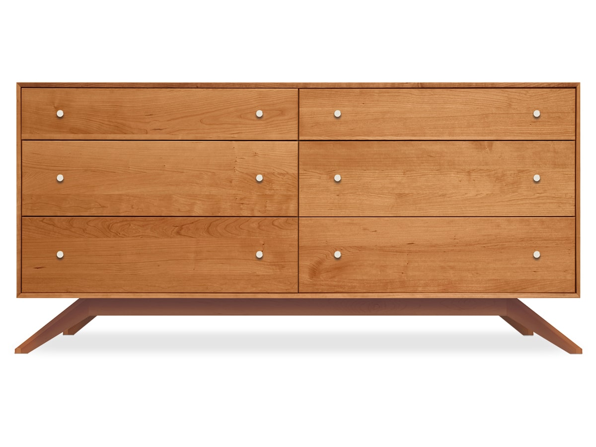 Astrid 6-drawer Dresser, Contemporary, Solid Wood Cherry, Copeland Furniture
