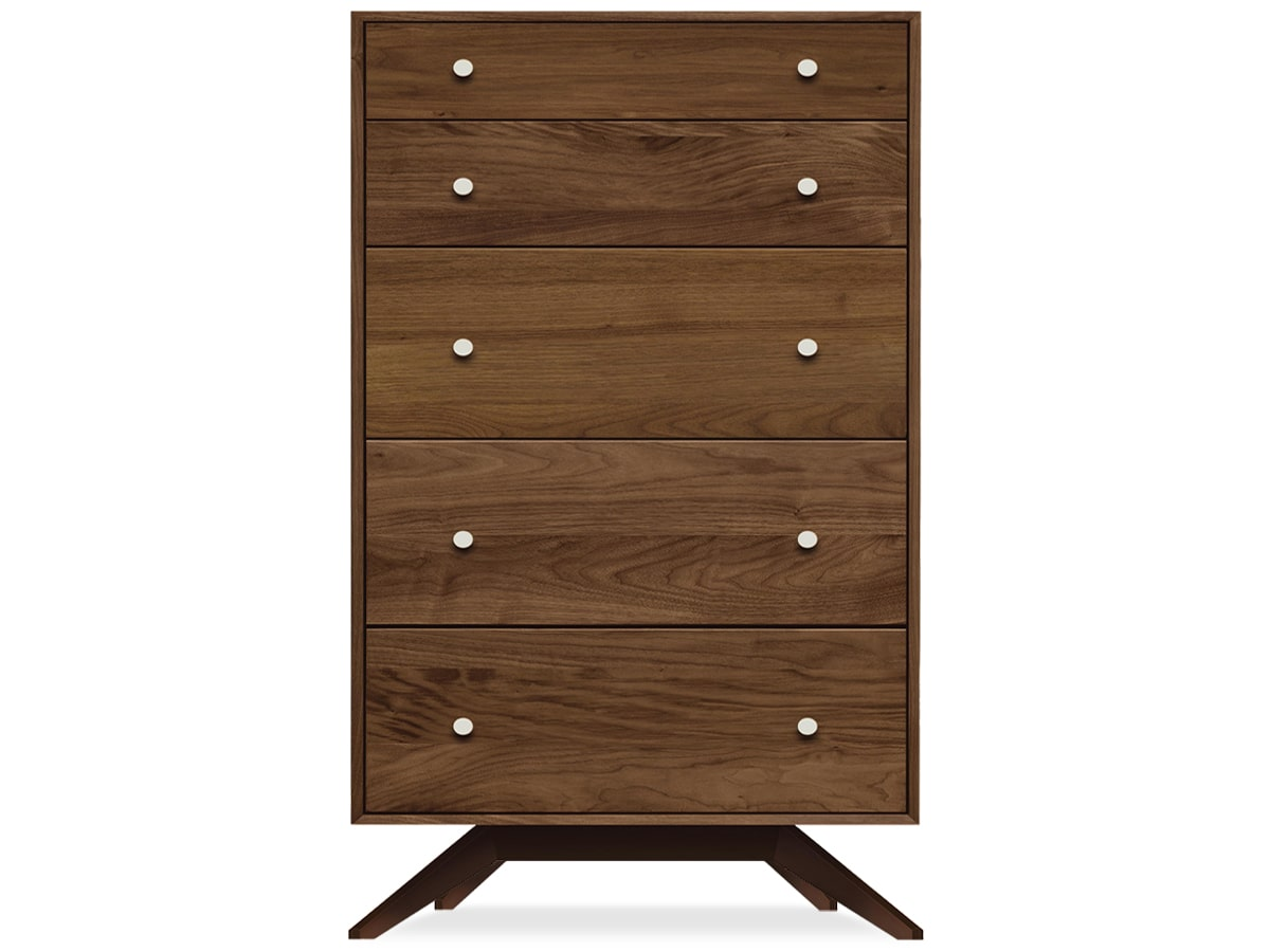 Astrid modern bedroom 5 drawer chest of drawers