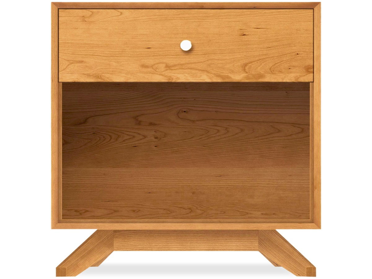 Astrid Nightstand in Solid Cherry by Copeland of Vermont