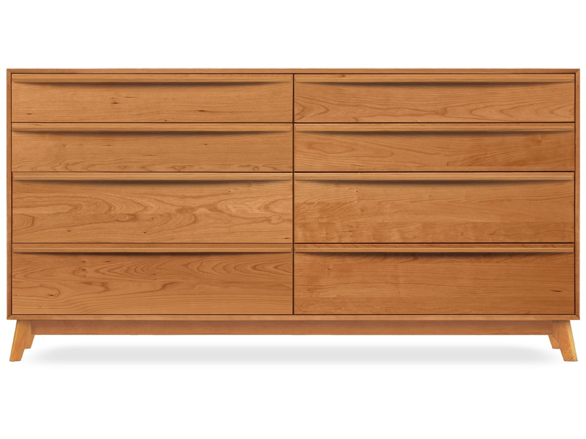 Catalina 8-drawer Dresser, modern, solid cherry, made by Copeland Furniture of Vermont