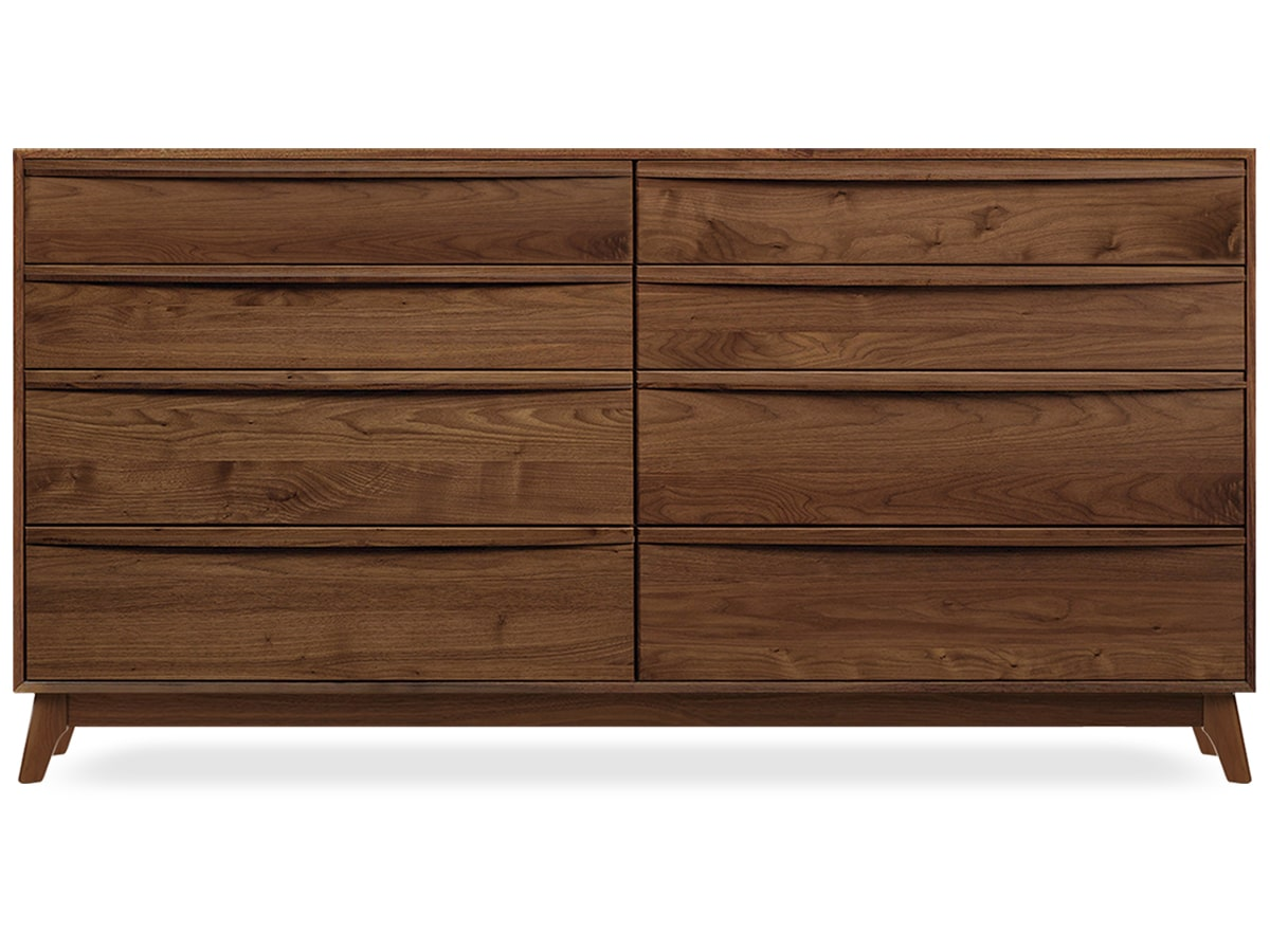 Catalina 8-drawer Dresser, modern solid walnut made by Copeland Furniture of Vermont