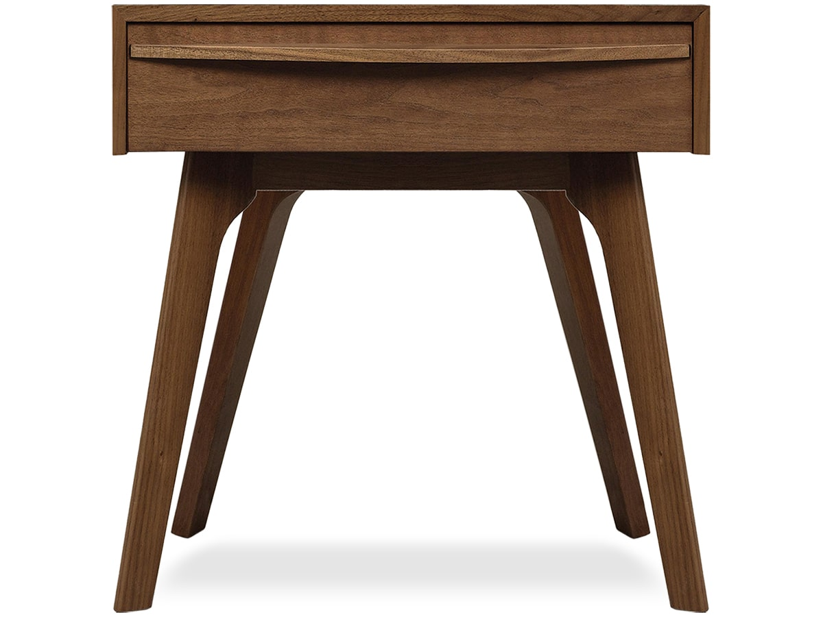 Catalina Nightstand in Solid Walnut made by Copeland of Vermont