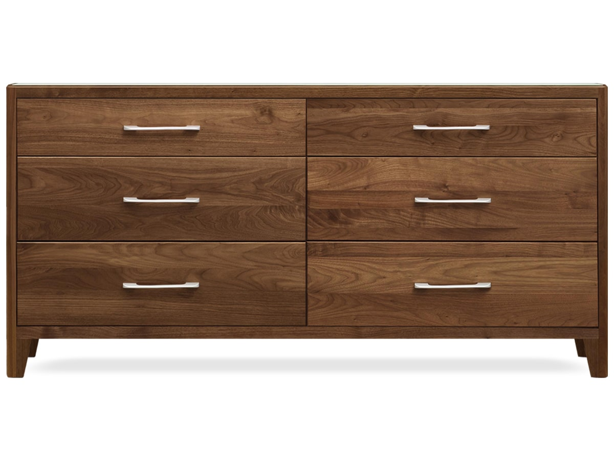 Contour modern bedroom 6 drawer dresser