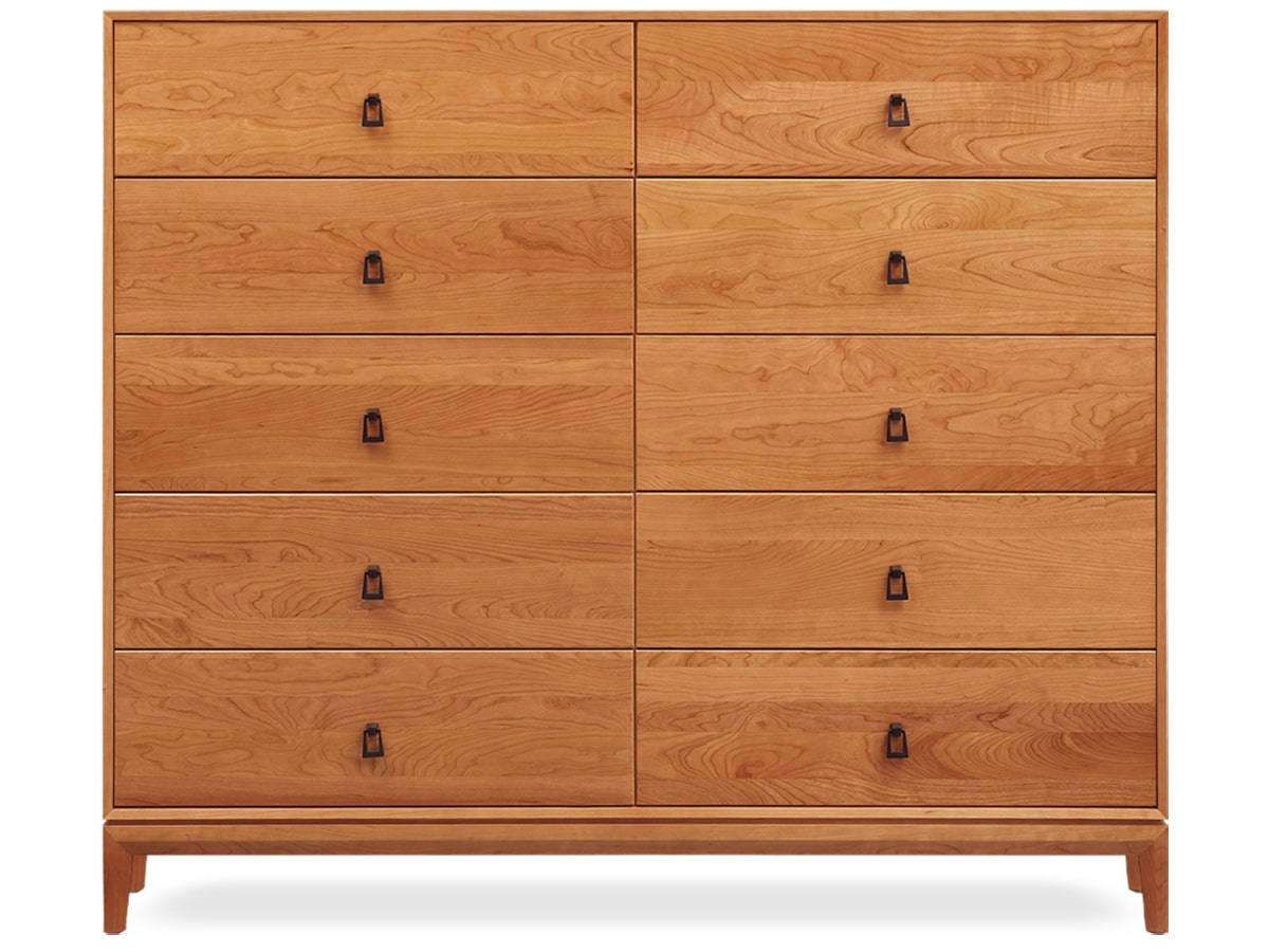 Mansfield Solid Cherry 10 Drawer Dresser