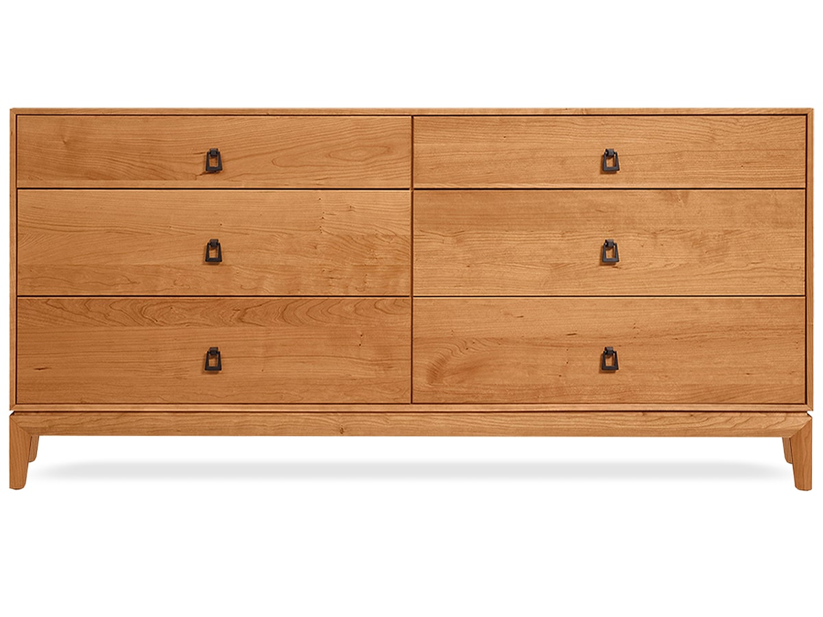 Mansifeld 6-Drawer Dresser, Solid American Cherry Dresser by Copeland of Vermont