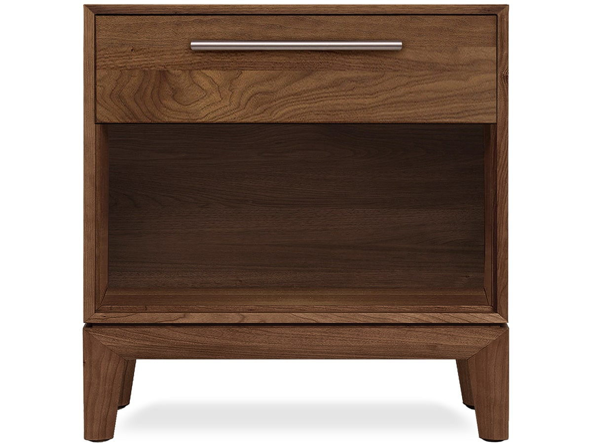 Mansfield Nightstand in Solid Walnut by Copland Furniture of Vermont