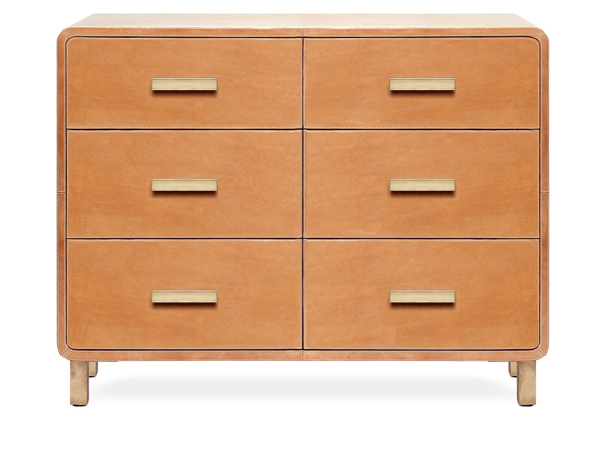 Danted Leather 6-drawer Dresser by Made Goods
