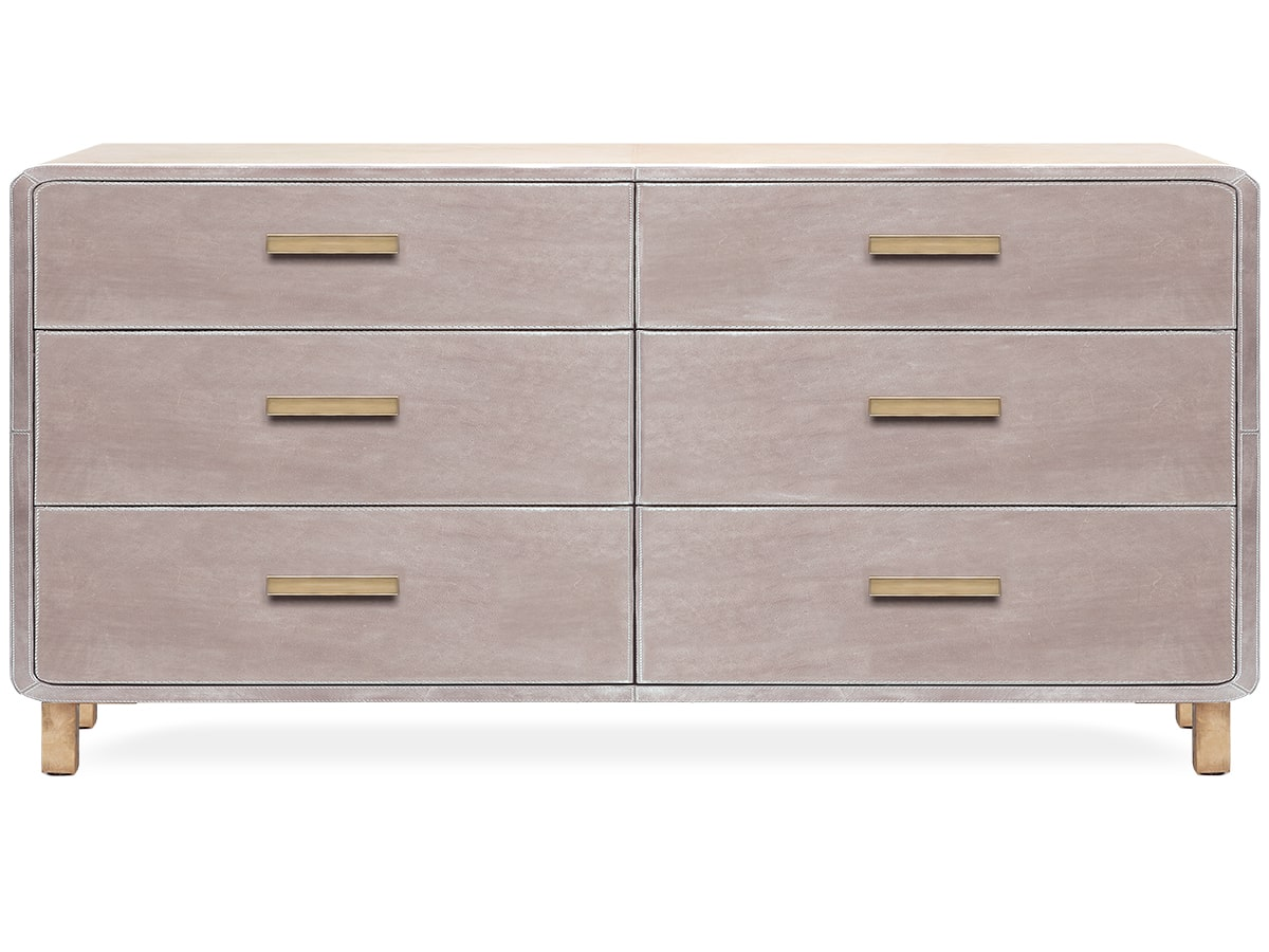Dante Leather 6-Drawer Dresser by Made Goods