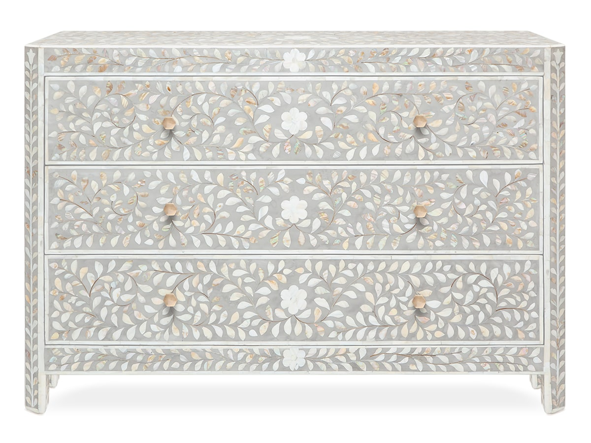 Hessa Indian inlay 3-drawer Dresser, by Made Goods
